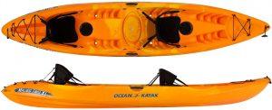 Comfort of ocean kayak