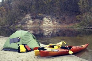 Kayaking for camping