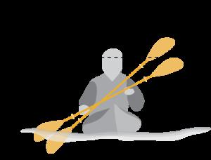 High-angle or low-angle kayak paddle