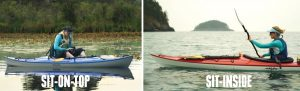 sit-on-top anf sit-inside kayak