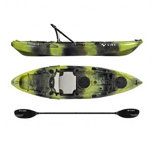 Vibe Kayaks Yellowfin 10 Foot Angler Sit On Top Kayak - High-Quality Fishing Kayak You Can Stand Up In