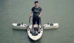Design of stand up kayak for fishing