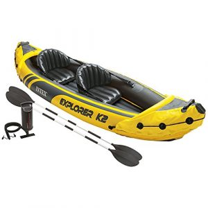 Intex Explorer K2 Kayak, 2-Person Inflatable Kayak - best inflatable kayak for dogs