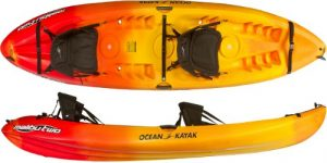 Ocean Kayak 12-Feet Malibu Two Tandem Sit-On-Top Recreational Kayak - best kayak for dogs