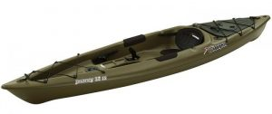 SUNDOLPHIN Sun Dolphin Journey 12-Foot Sit-on-top Fishing Kayak - Most Stable Kayak for Fishing You Can Stand Up In