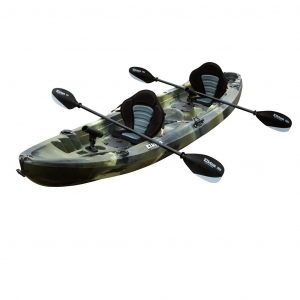 Elkton Outdoors Tandem Kayak: 12 Foot Sit On Top ocean Fishing Kayak - one of the best kayak for ocean fishing