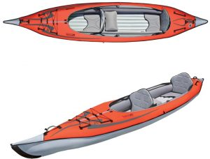 Advanced Elements AdvancedFrame Convertible Inflatable Kayak - top rated fold-up kayak in 2019