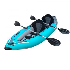 Driftsun Rover 220 Inflatable Tandem Kayak with High Pressure Floor - top rated tandem ocean kayak in 2019